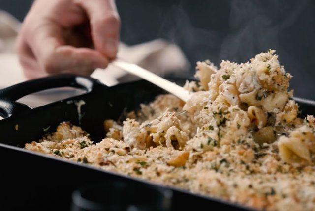Crusty-Baked-Shells-Cauliflower-Recipe-Food-Wine