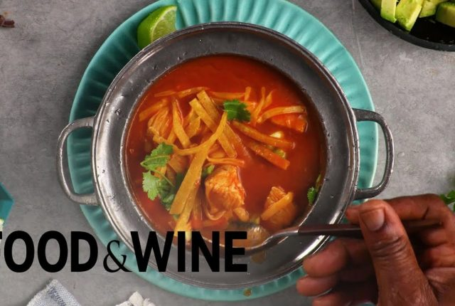 Tortilla-Soup-With-Chicken-and-Avocado-Recipe-Food-Wine